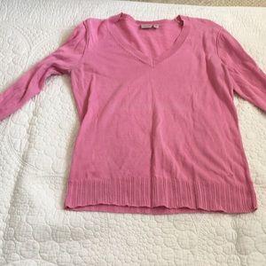 Esprit pink v-neck sweater